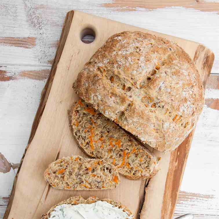 Mixed Flour Carrot Bread