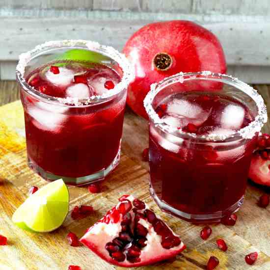 The Best Pomegranate Margarita