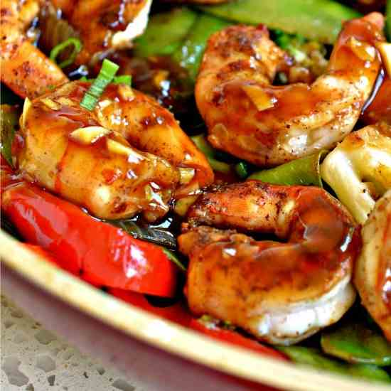 Garlic Shrimp Stir Fry