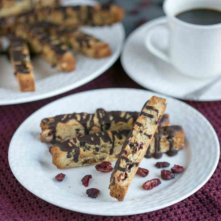 Cranberry Almond Biscotti Cookies