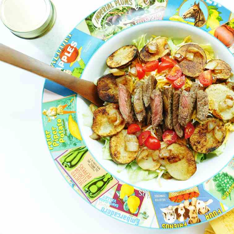 Cajun Steak - Potato Salad