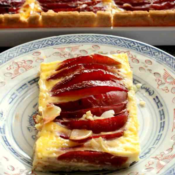 Plum Cake with Custard