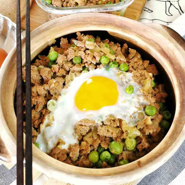 Ground beef rice (Hong Kong style)