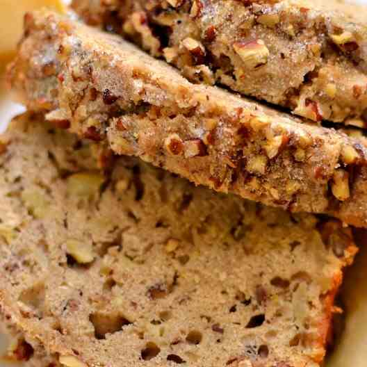 Apple Bread with Cinnamon Pecan Crunch