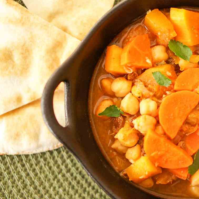 Harissa-Spiked Moroccan Stew With Pumpkin