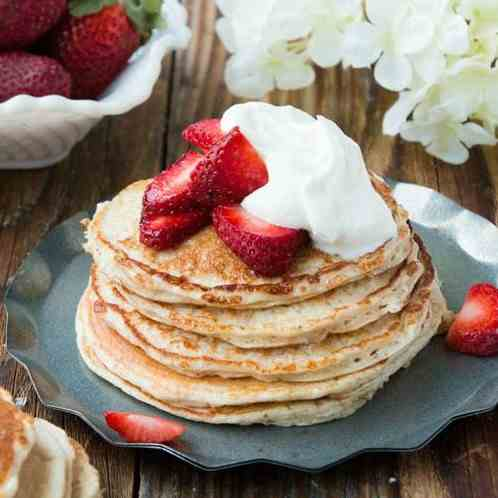strawberry shortcake gluten free pancakes