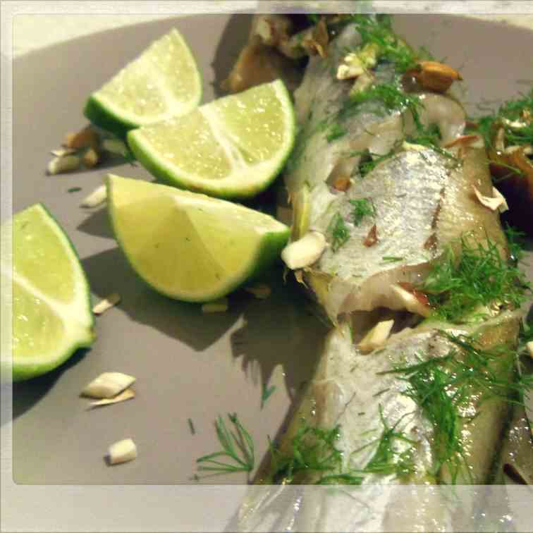 Oven Baked Whiting with Fennel Fondue