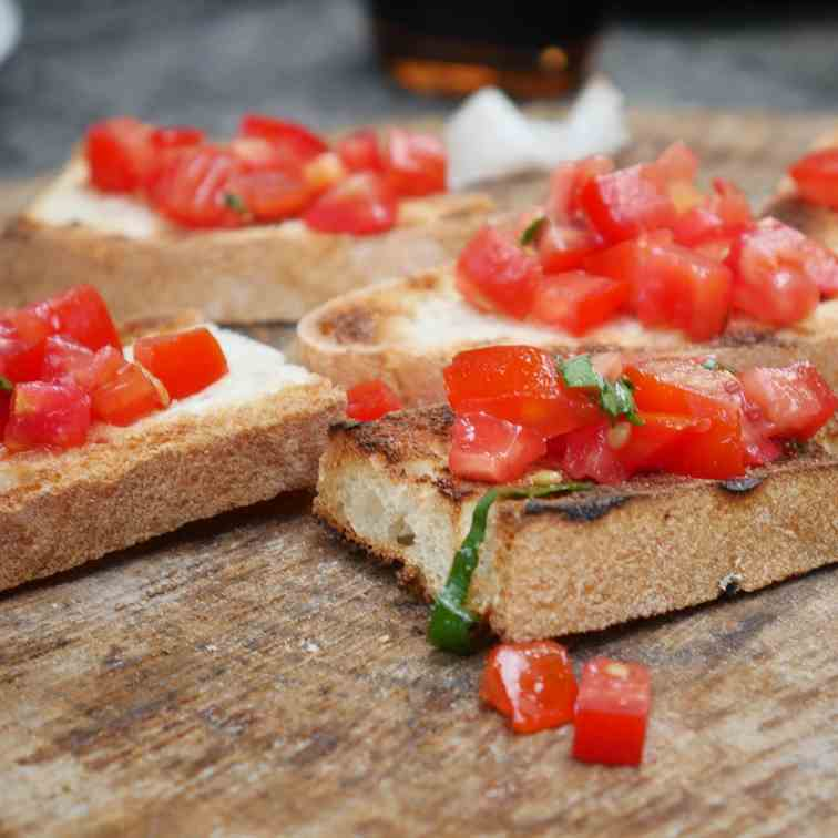 Bruschetta with Tomato and Chilli Recipe
