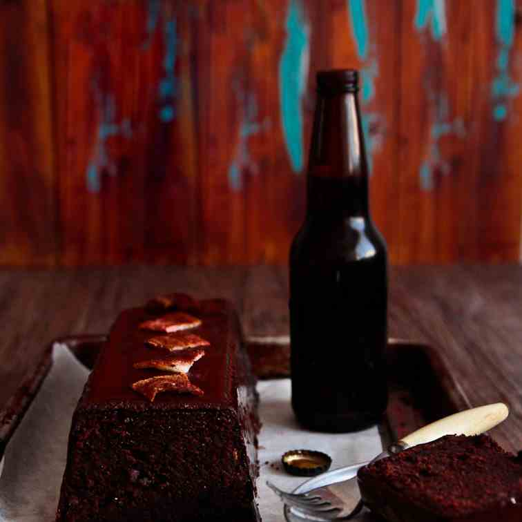 Chocolate, Beer - Bacon Cake