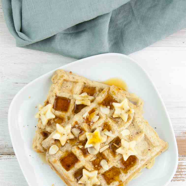 Vegan Banana Bread Waffles