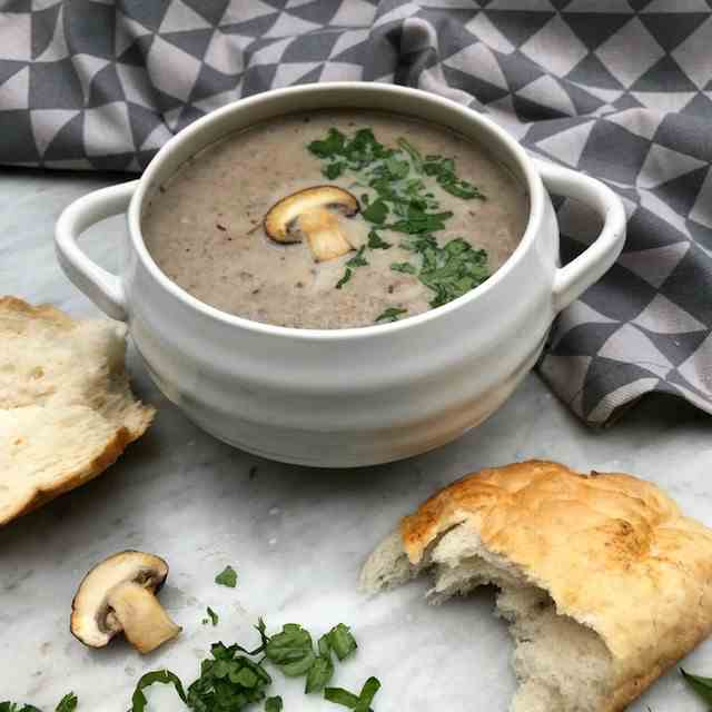 Mushroom and Chestnut Soup