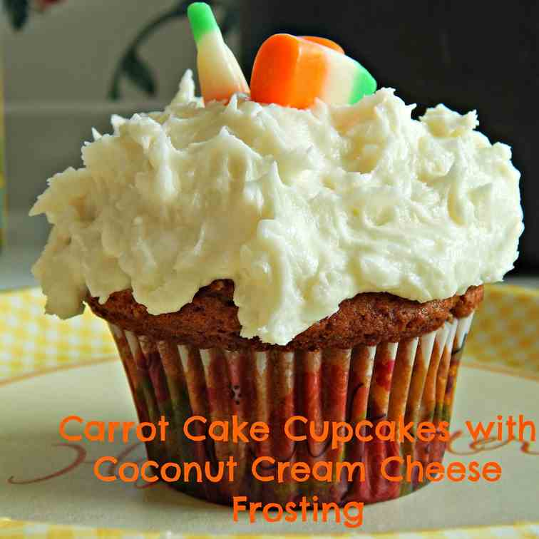 Carrot Cake Cupcakes w/Coconut Frosting