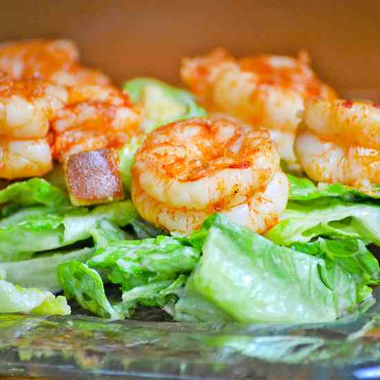 Spicy Shrimp Caesar