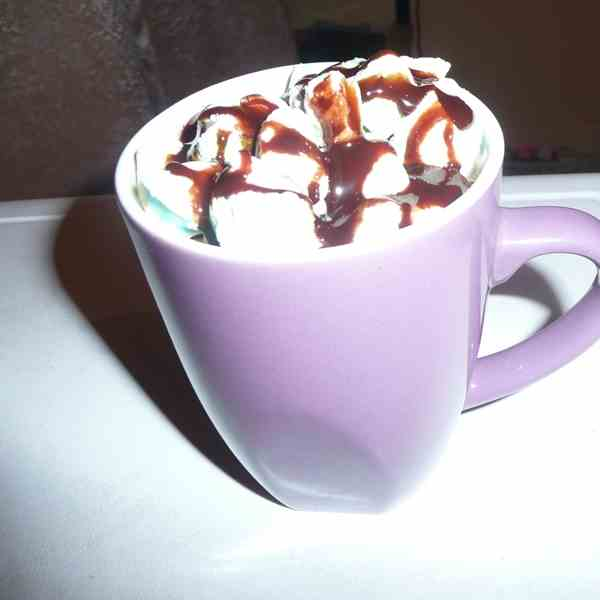 Hot chocolate with marsh mellows