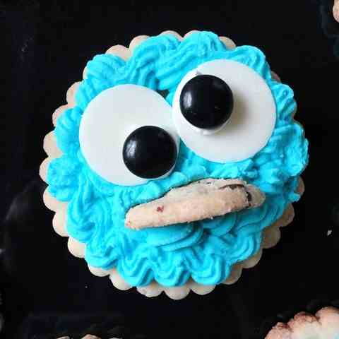 Cookie Monster Sugar Cookies