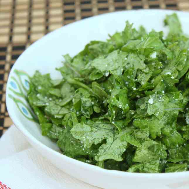 Kale Salad with Lemon - Pecorino