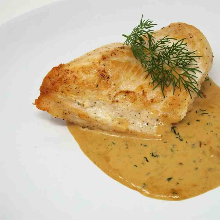 Chicken Breast with Dill Cream Sauce