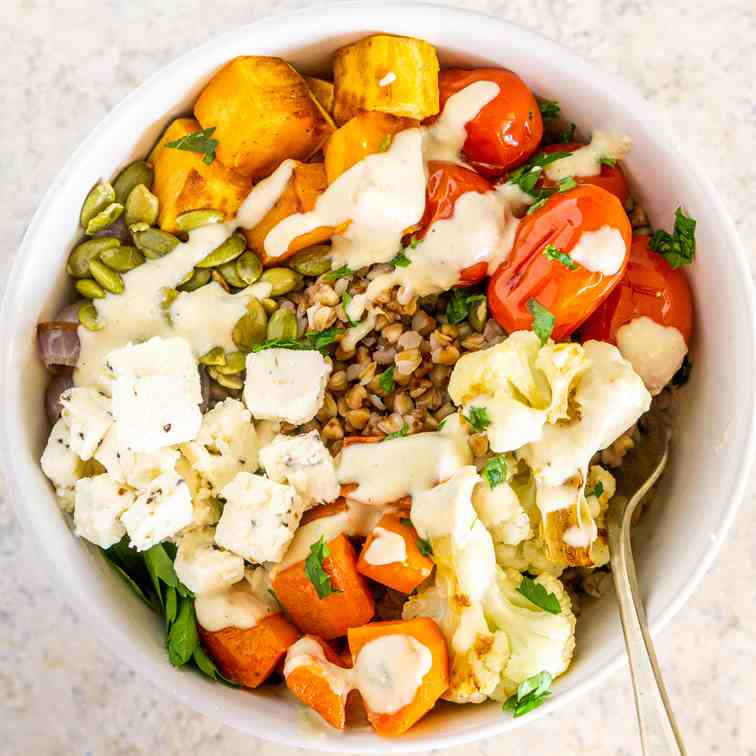 Buckwheat Bowls with Roasted Vegetables