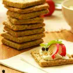 Sesame and poppy seed crackers