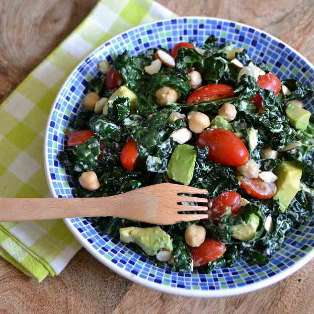 Creamy Lemon-Garlic Kale Salad