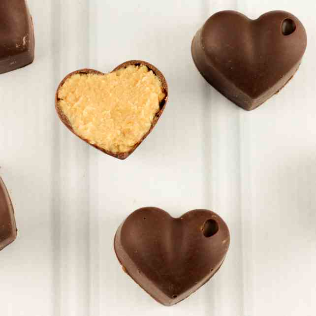 Chocolate Peanut Butter Hearts
