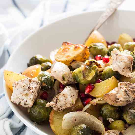 Chicken, Potato and Brussels Sprouts