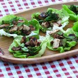 Chicken Filled Lettuce Cups.