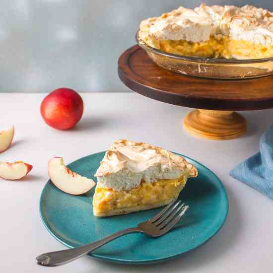 Stone Fruit Meringue Pie