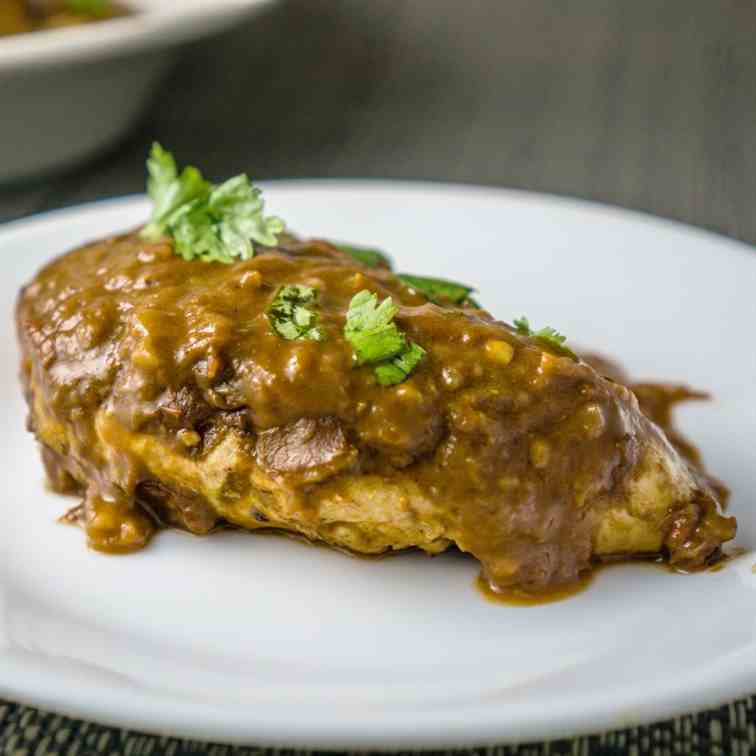 Chicken with Chocolate Mole Sauce