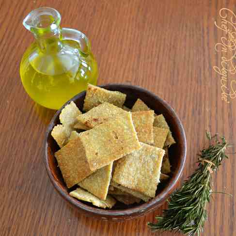 olive oil rosemary wheat thins