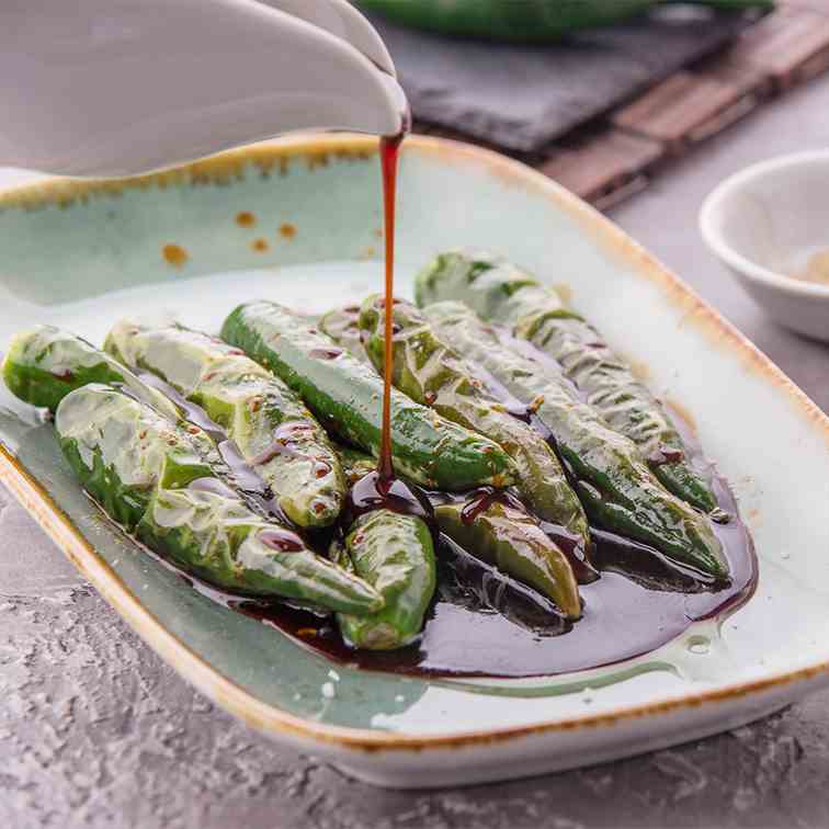 Green Chilis with Sweet Soy Sauce