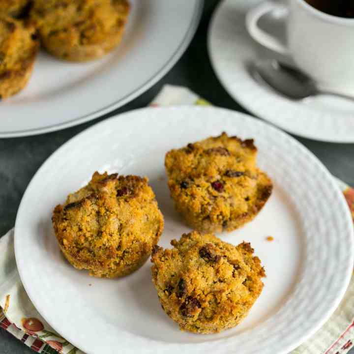Pumpkin Muffins Cranberries and Pecans