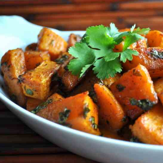 Cilantro Honey Roasted Butternut Squash