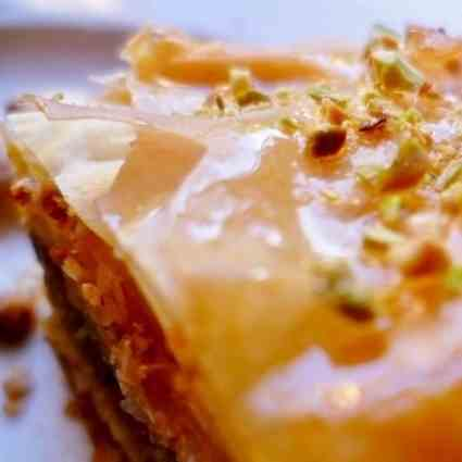 Honey nut baklava