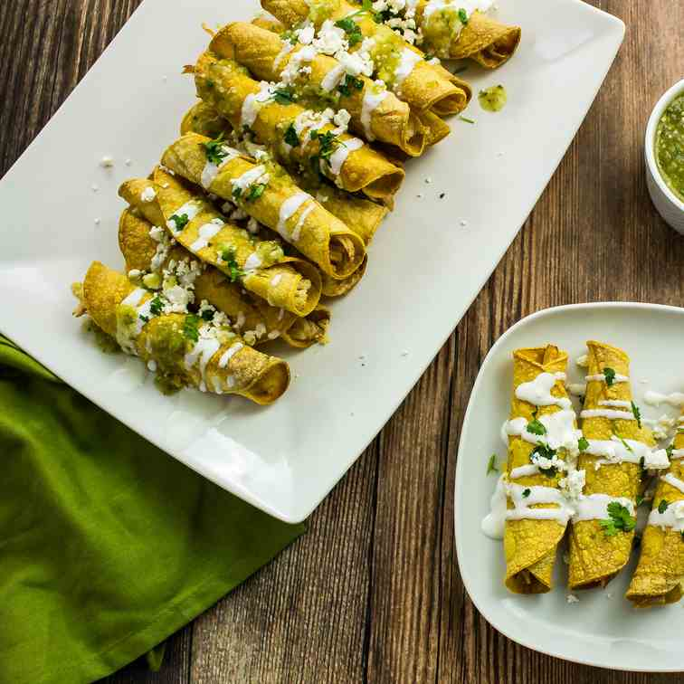 Baked Chicken - Cheese Taquitos