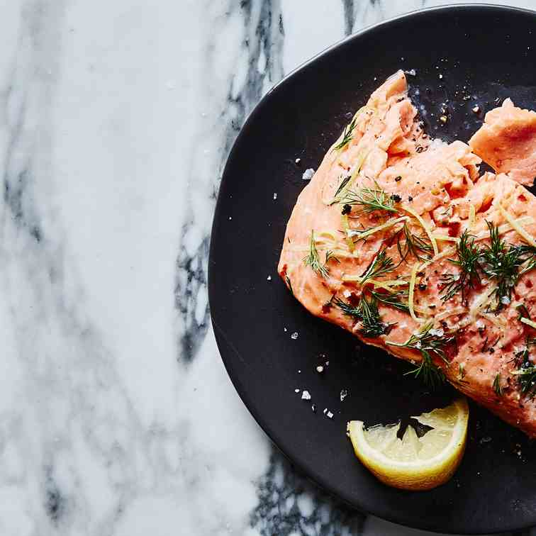 Sous Vide Salmon with Lemon and Dill