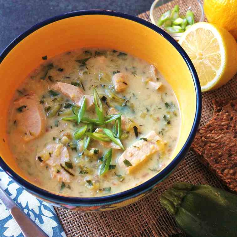 Greek Chicken and Lemon Soup