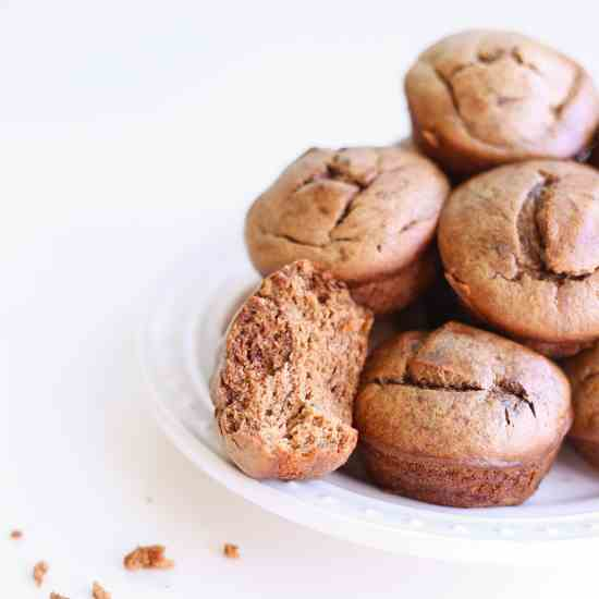 Chocolate Almond Butter Blender Muffins