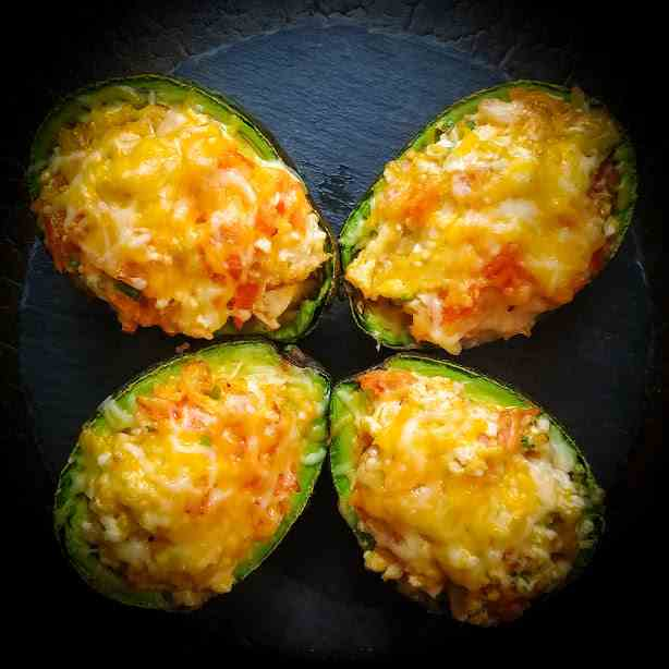 Roast Chicken Stuffed Avocados