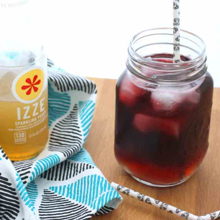 Red Wine - Peach Spritzers