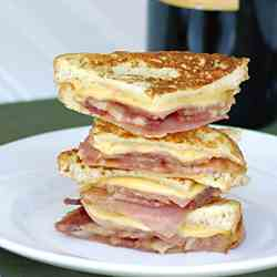 Bacon Monte Cristo Finger Sandwich