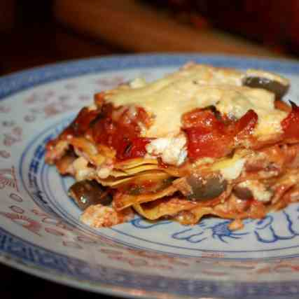 Quick Lasagne with Vegetable Sauce