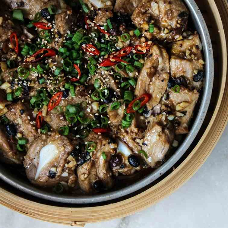 Chinese Steamed Pork Ribs with Black Bean