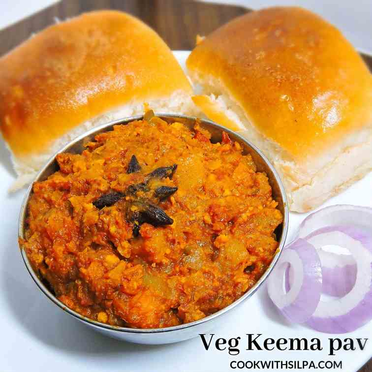Easy veg keema pav recipe ( Mumbai food)