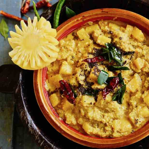 Kerala Pumpkin Pineapple and Banana Curry