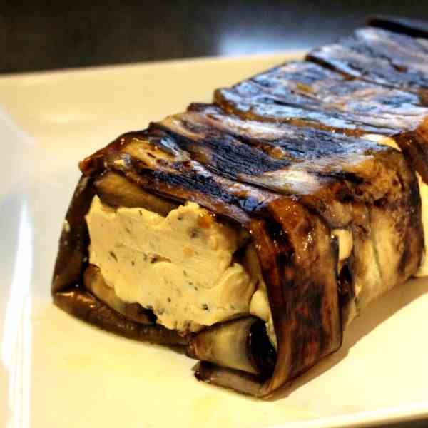 Cream Cheese in Aubergines
