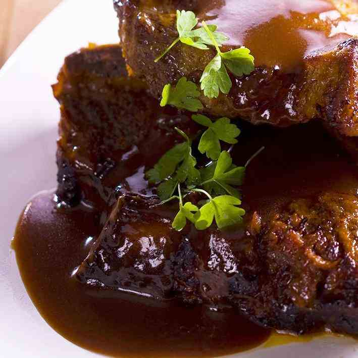 Spiced Beef Ribs with Bourbon Sauce
