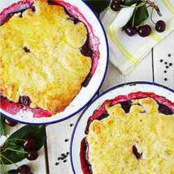 Sour Cherry and Black Pepper Cobbler