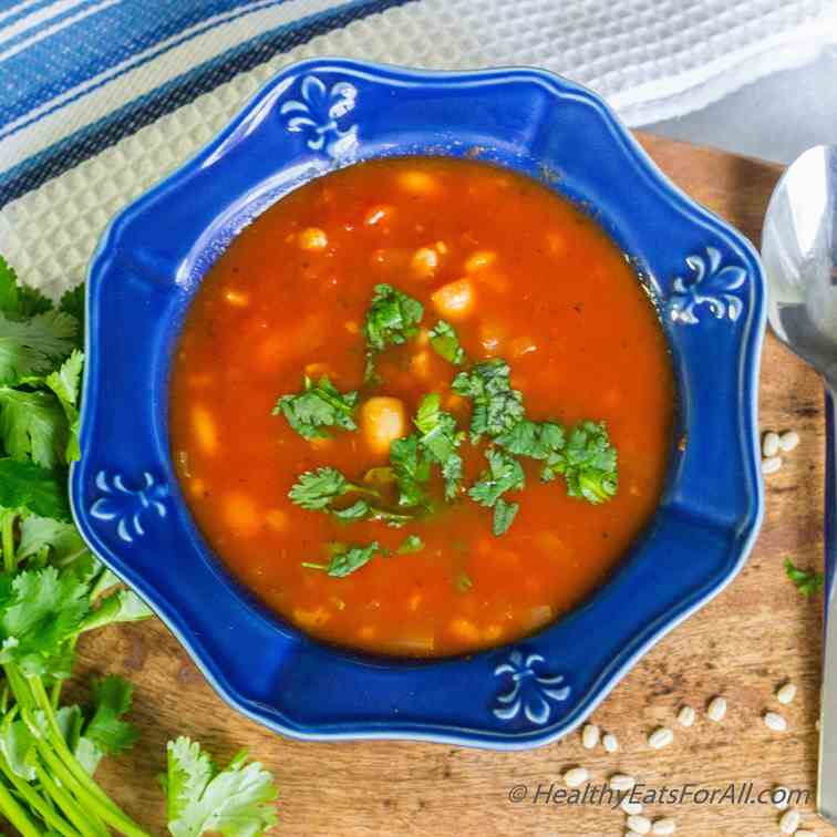 Pasta Fagioli Soup with Barley