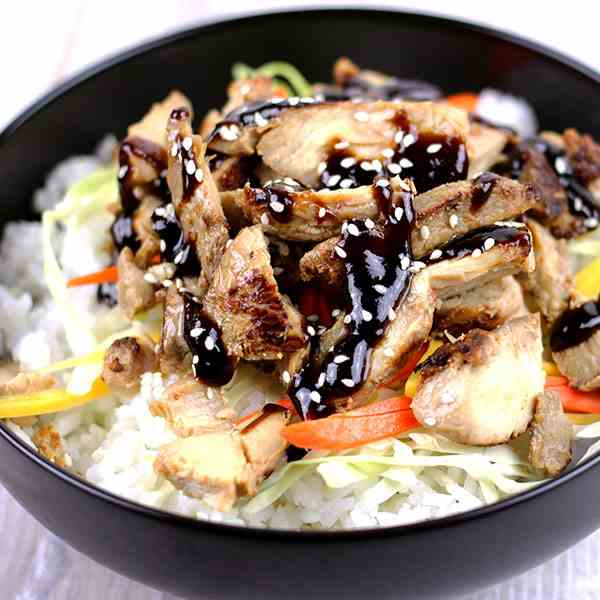Spicy Hoisin Chicken Bowls